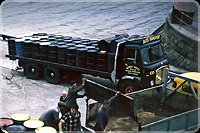 St Ives quay, 1967, carrying detergent for Torrey Canyon disaster